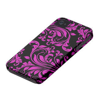 Pink & BLack Damask Patterns iPhone 4, 4S iPhone 4 Covers