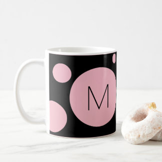 Pink/Black Dot Custom Mug