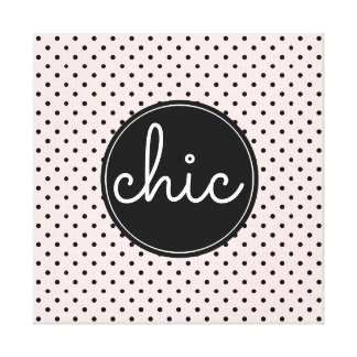 Pink Black Dots Tres Chic Canvas Print