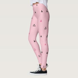 Pink & black geometric pattern Legging