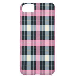 Pink, Black & gray PLAID iPhone 5 case