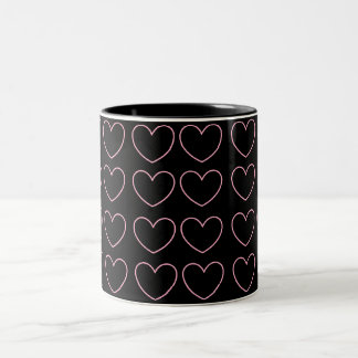 Pink Black Heart Mug