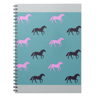 Pink & black horse notebook