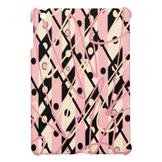"Pink & Black iPad Mini Case ""Jazz"""