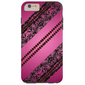 Pink Black Lace Goth Lacy Pretty CricketDiane Tough iPhone 6 Plus Case