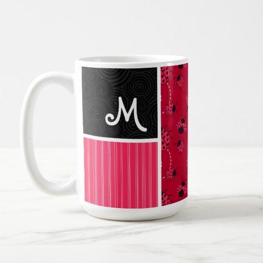 Pink & Black Ladybug Mugs