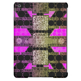 Pink Black Leopard Abstract iPad Air Cover