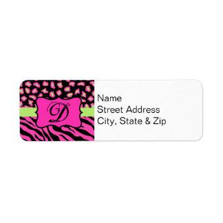 Pink, Black & Lime Green Zebra & Cheetah Skins