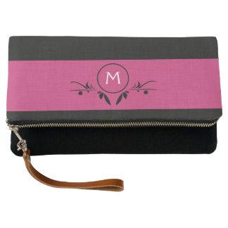 Pink & Black Monogram | Clutch Purse