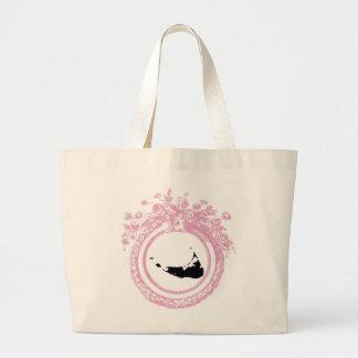 Pink & Black Nantucket Large Tote Bag