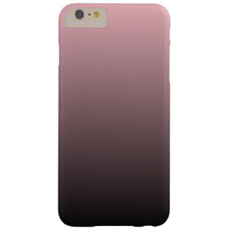 Pink Black Ombre Background Barely There iPhone 6 Plus Case