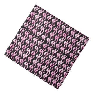 pink black pirate skulls pattern bandanas