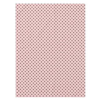 Pink black polka dot tablecloth