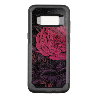 Pink Black Puzzle Rose OtterBox Commuter Samsung Galaxy S8 Case