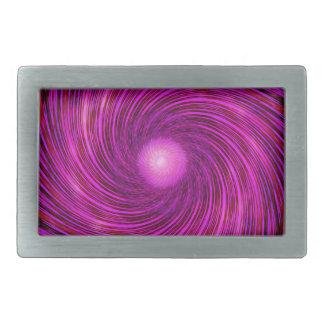 Pink Black Spiral Wave Kaleidoscope Art Belt Buckle