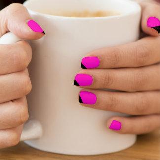 Pink Black Striped Minx Nails Minx Nail Art