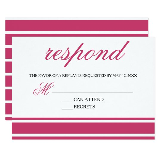 Pink & Black Trendy Typography Response Card