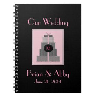 Pink & Black  Wedding Planner Spiral Notebook