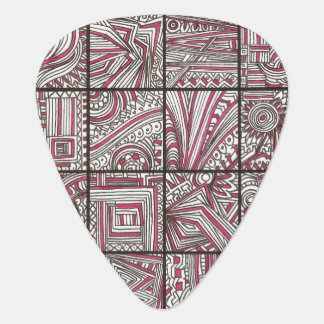 Pink, Black, White, Geometric Doodle - Ink Drawing Pick