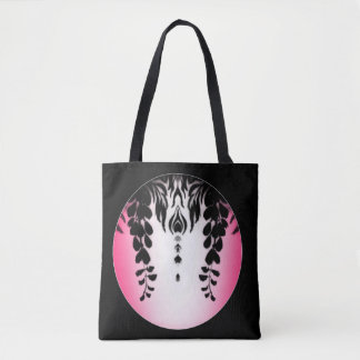 Pink Black Wisteria Silhouette Bag