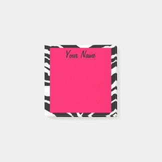 """Pink & Black Zebra Print"" Post-it Notes"