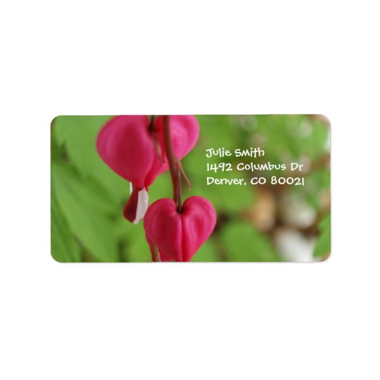Pink Bleeding Hearts Label