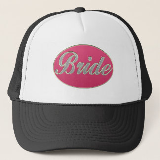 Pink Bling Bride Trucker Hat
