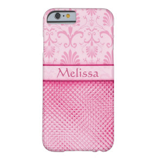 Pink Bling Effect Pattern Personalized Barely There iPhone 6 Case