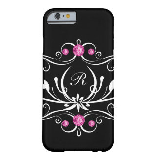 Pink Bling Monogram Barely There iPhone 6 Case