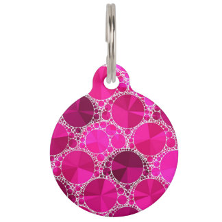 Pink Bling Pet ID Tag