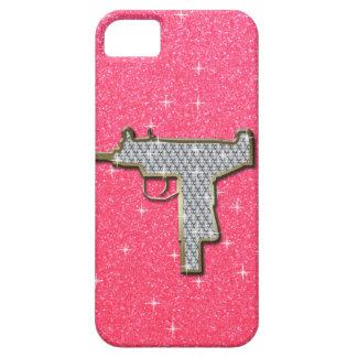 Pink Bling Uzi Gun iPhone 5 Cases