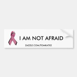 Pink/Blk Ribbon,Bumper Sticker