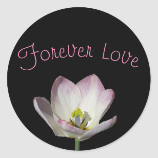 Pink Bloom Classic Round Sticker