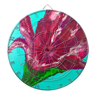 Pink Bloom Dartboard
