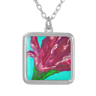 Pink Bloom Silver Plated Necklace