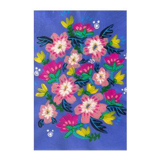Pink Blooms Acrylic Wall Art