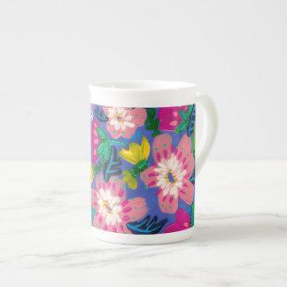 Pink Blooms Bone China Mug