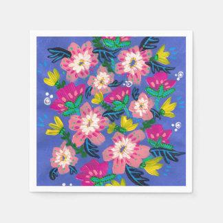 Pink Blooms Cocktail Paper Napkins