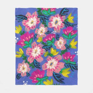 Pink Blooms Fleece Blanket