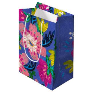 Pink Blooms Gift Bag- Medium Medium Gift Bag