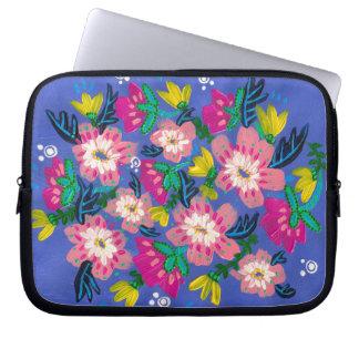 """Pink Blooms Neoprene Laptop Sleeve- 10"""" Laptop Sleeve"""