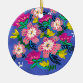 Pink Blooms Ornament