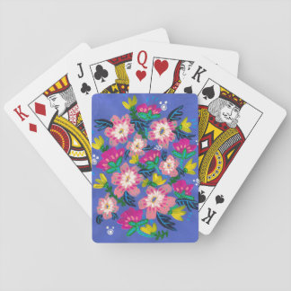 Pink Blooms Playing Cards
