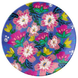 Pink Blooms Porcelain Plate