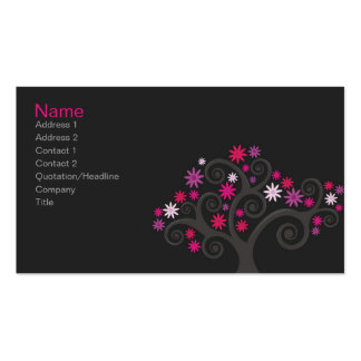 Pink Blooms Profile Card Double-Sided Standard Business Cards (Pack Of 100)
