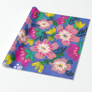 Pink Blooms Wrapping Paper