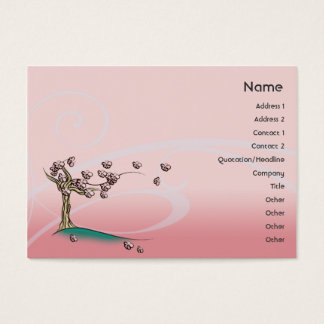 Pink Blossom - Chubby Business Card