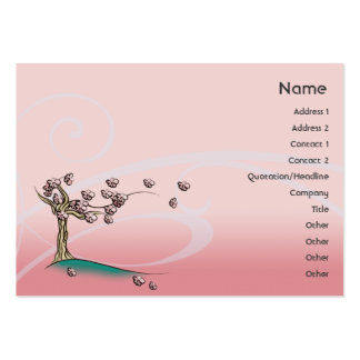 Pink Blossom - Chubby Large Business Card