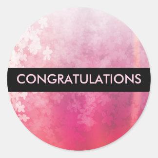 Pink Blossom Congratulations Sticker