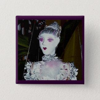 Pink blossom portrait 2 inch square button
